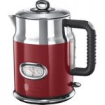 RUSSELL HOBBS Retro 21670 Jug Kettle – Red, Red