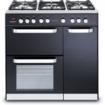 KENWOOD CK503 Dual Fuel Range Cooker – Black, Black