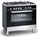 KENWOOD CK305-1 Dual Fuel Range Cooker – Black, Black