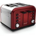 MORPHY RICHARDS Accents 242030 4-Slice Toaster – Red, Red