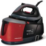 MORPHY RICHARDS Power Steam Elite 332006 Steam Generator Iron – Black & Red, Black