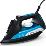 BOSCH Sensixx'x DA50 SensorSecure TDA5080GB Steam Iron – Black & Ice Blue, Black