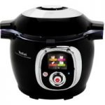 TEFAL Cook4Me Connect Smart Multicooker – Black, Black