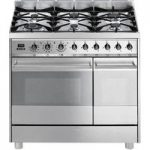 SMEG C92GPX8 90 cm Dual Fuel Range Cooker – Stainless Steel, Stainless Steel