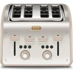 TEFAL Maison TT770AUK 4-Slice Toaster – Stainless Steel & Oatmeal Grey, Stainless Steel