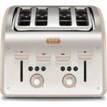 TEFAL Maison TT770AUK 4-Slice Toaster – Stainless Steel & Oatmeal Grey, Stainless Steel