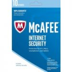 MCAFEE Internet Security 2016 – 10 users for 1 year