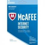 MCAFEE Internet Security 2016 – 3 users for 1 year