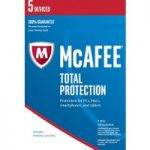 MCAFEE Total Protection 2016 – 5 users for 1 year