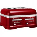 KITCHENAID Artisan 5KMT4205BCA 4-Slice Toaster – Red, Red