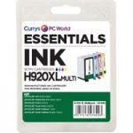 ESSENTIALS 920 XL Cyan, Magenta, Yellow & Black HP Ink Cartridges – Multipack, Cyan