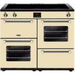 BELLING Kensington 100Ei CRM 100 cm Electric Induction Range Cooker – Cream & Chrome, Cream