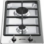 SMEG Classic PGF32G Domino Gas Hob – Stainless Steel, Stainless Steel