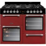 LEISURE Cookmaster 100 CK100F232R 100 cm Dual Fuel Range Cooker – Red & Chrome, Red