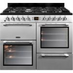 LEISURE Cookmaster 100 CK100F232S 100 cm Dual Fuel Range Cooker – Silver & Chrome, Silver