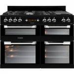 LEISURE Cuisinemaster CS110F722K 110 cm Dual Fuel Range Cooker – Black, Black