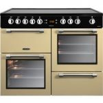 LEISURE Cookmaster CK100C210C Electric Ceramic Range Cooker – Cream & Chrome, Cream