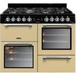 LEISURE Cookmaster CK100G232C 100 cm Gas Range Cooker – Cream & Chrome, Cream