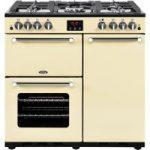 BELLING Kensington 90G Gas Range Cooker – Cream, Cream