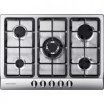 RANGEMASTER RMB70HPNGFSS Gas Hob – Stainless Steel, Stainless Steel