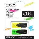 PNY N1 Attach̩ USB Memory Stick Р16 GB, Twin Pack