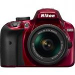 NIKON D3400 DSLR Camera with 18-55 mm f/3.5-5.6 VR Zoom Lens – Red, Red