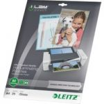 LEITZ iLAM 80 Micron A4 Laminating Pouches – 25 Pack
