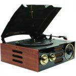 GPO Empire Turntable – Black & Brown, Black