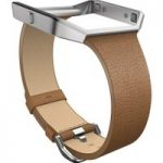 FITBIT Blaze Slim Leather Accessory Band – Large, Camel