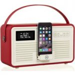 Viewquest Retro Mk II Portable DABﱓ Bluetooth Clock Radio – Red, Red