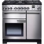 Rangemaster Professional Deluxe 90 Dual Fuel Range Cooker – Stainless Steel, Stainless Steel