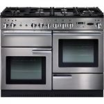 RANGEMASTER Professional 110 Dual Fuel Range Cooker – Stainless Steel & Chrome, Stainless Steel