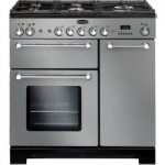 Rangemaster Kitchener 90 Dual Fuel Range Cooker – Stainless Steel & Chrome, Stainless Steel
