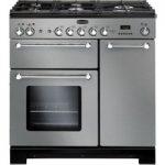 Rangemaster Kitchener 90 Dual Fuel Range Cooker – Stainless Steel & Chrome, Stainless Steel