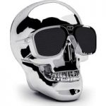 JARRE AeroSkull XS Portable Wireless Speaker – Silver, Silver