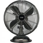 LOGIK L12DFGM17 12″ Desk Fan – Gun Metal