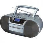 JVC RC-D327B DAB/FM Bluetooth Boombox – Grey, Grey