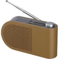 Logik wooden portable dab+/fm clock radio l55dab15