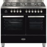 BRITANNIA Sonetto 100DF TC Dual Fuel Range Cooker – Black & Chrome, Black