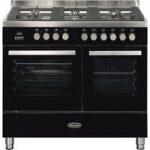 BRITANNIA Sonetto 100DF TC Dual Fuel Range Cooker – Black & Chrome, Black