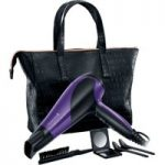 REMINGTON D3192GP Glamourous of All Hair Dryer Set – Black & Purple, Black