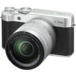 FUJIFILM X-A10 Compact System Camera with 16-50 mm f/3.5-f/5.6 Zoom Lens – Silver, Silver