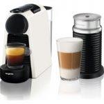 NESPRESSO by Magimix Essenza Mini Coffee Machine with Aeroccino – Pure White, White