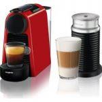NESPRESSO by Magimix Essenza Mini Coffee Machine with Aeroccino – Ruby Red, Red