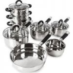 TOWER Essentials T80834 8-piece Pan Set – Stainless Steel, Stainless Steel