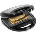 TOWER T27008 3-in-1 Sandwich Toaster – Black & Grey, Black