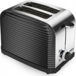 TOWER Linear T20007 2-Slice Toaster – Black, Black