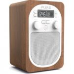 PURE Evoke H2 Portable DAB/FM Clock Radio – Walnut