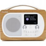 PURE Evoke H4 Portable DAB/FM Bluetooth Clock Radio – Oak