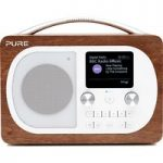 PURE Evoke H4 Portable DAB/FM Bluetooth Clock Radio – Walnut